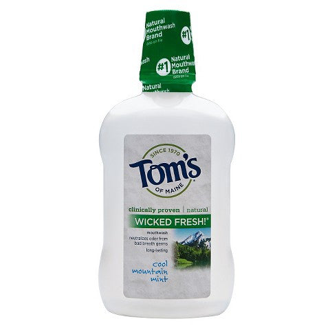 Tom's Of Maine Wicked Fresh! Mouthwash - Cool Mountain Mint - 16 oz