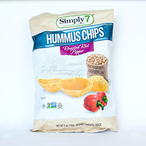 Simply 7 Hummus Chips, Roasted Red Pepper - 5oz