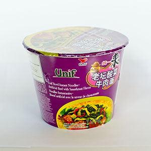 Unif Bowl Instant Noodles Artificial Beef with Sauerkrant Flavor - 3.8oz