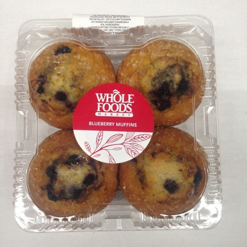 Whole Foods Blueberry Muffins - 4ct