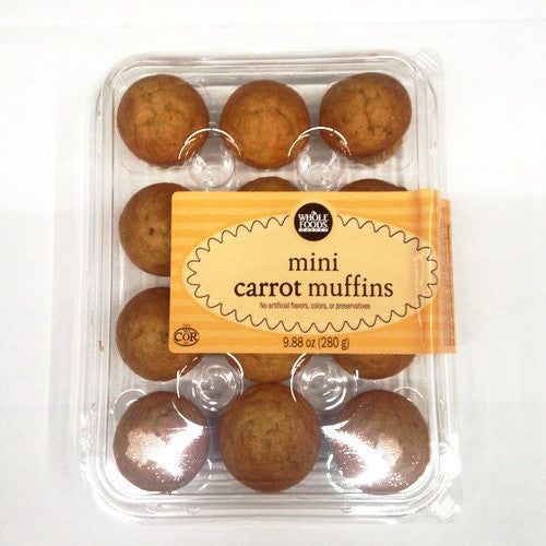 Whole Foods Mini Carrot Muffins - 12ct