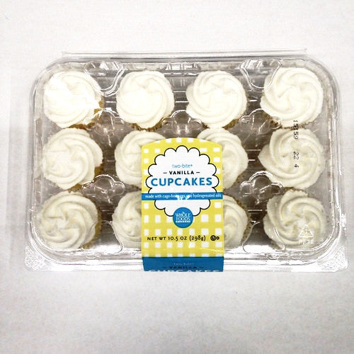 Whole Foods Two-Bite Vanilla Cupcakes - 12ct