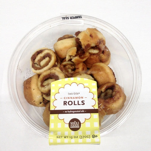 Whole Foods Two-Bite Cinamon Rolls