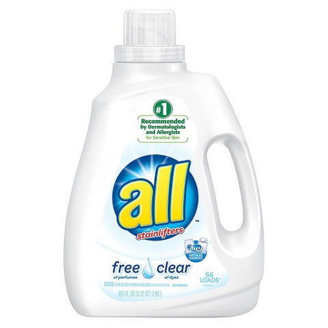 All with Oxi Liquid Laundry Detergent - 94.5 oz