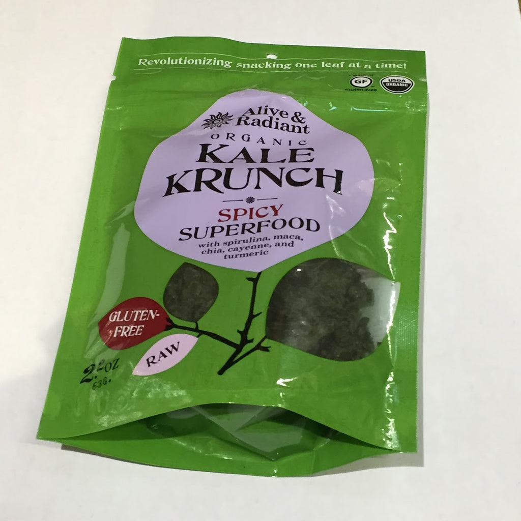 Alive and Radiant Organic Kale Krunch: Spicy Superfood - 2.0 oz