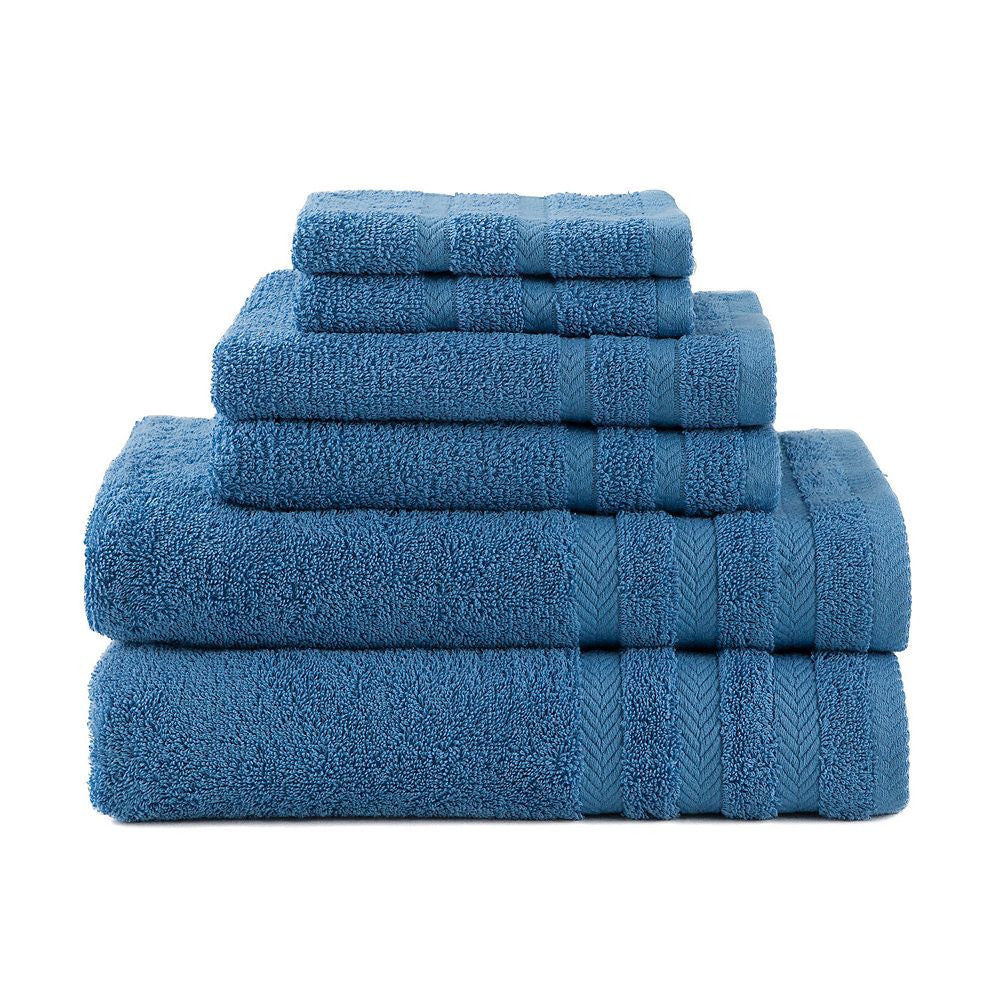 6-Piece Cotton Bath Towel Set- Better Homes and Gardens Thick and Plush