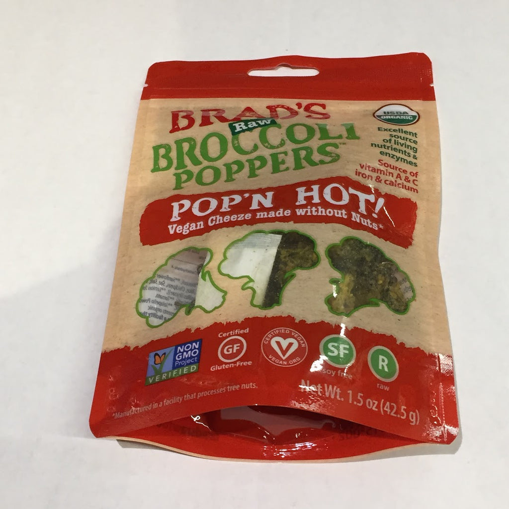 Brad's Raw Broccoli Peppers : Pop'n Hot! - 1.5 oz