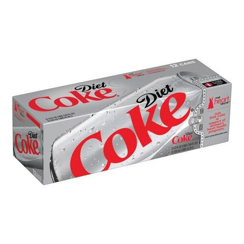 Diet Coca Cola - 12 pk/12 oz each