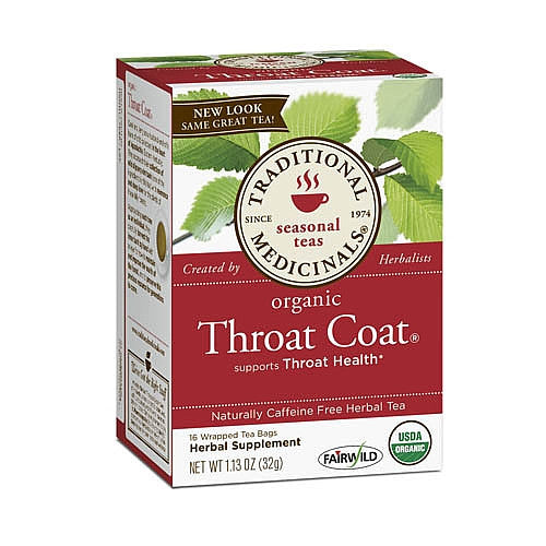Traditional Medicinals Throat Coat Seasonal Tea, Supports Throat Health - 16 tea bags