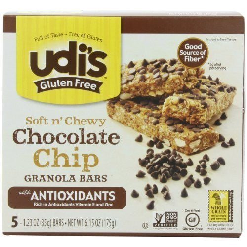 Udi's Gluten Free Chocolate Chip Granola Bars - 5 bars (35 grams)