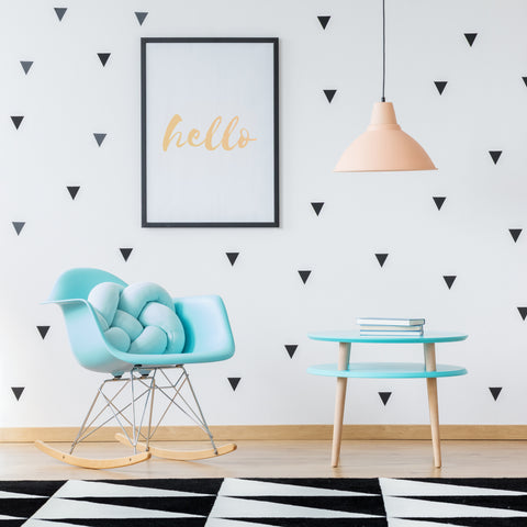 150 x Nursery Triangles Children's Wall Stickers