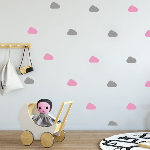 60 x Nursery Cloud Children's Wall Stickers