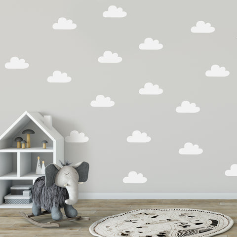 60 x Nursery Clouds Children's Wall Stickers