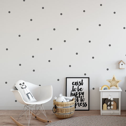 200 x Nursery Dots Children's Wall Stickers