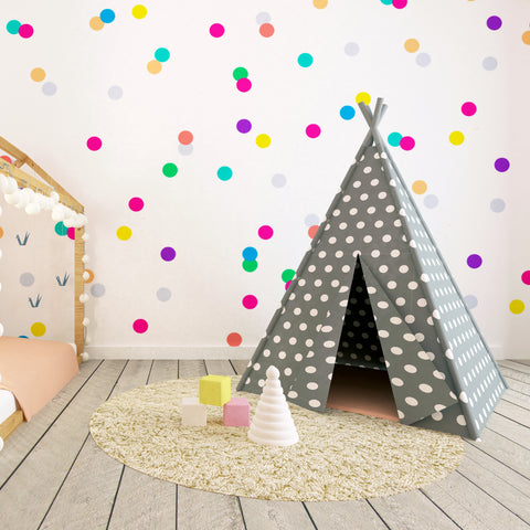 20 x Nursery Dots Children's Wall Stickers