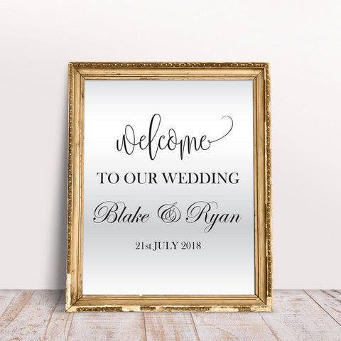 Wedding Custom Mirror Frame Decor Sticker