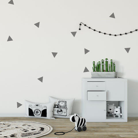 60 x Nursery Triangles Children's Wall Stickers