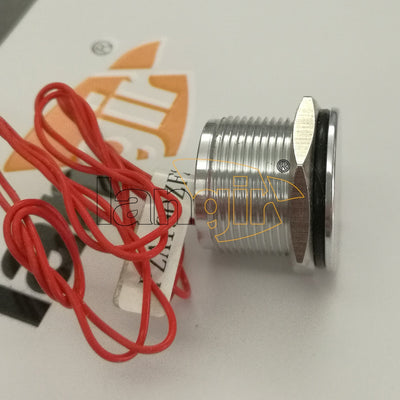 19mm 200MA 24VAC/DC Flat head Normally Open Momentary Aluminum Piezo Switch