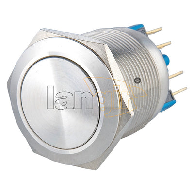 L22 (22mm) Non-Illuminated Momentary or Latching 1no1nc Vandal Resistant Switches