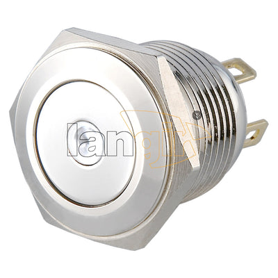 LS16(16mm) Pin Terminal 2A48VDC 1NO Dot Illuminated Anti vandal Push Button Switch