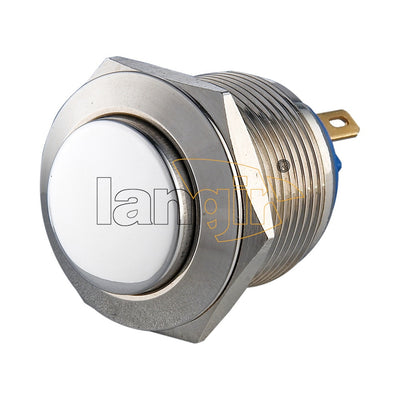 19mm Nickel-plated brass 2A 48VDC IP65 Anti Vandal Switch