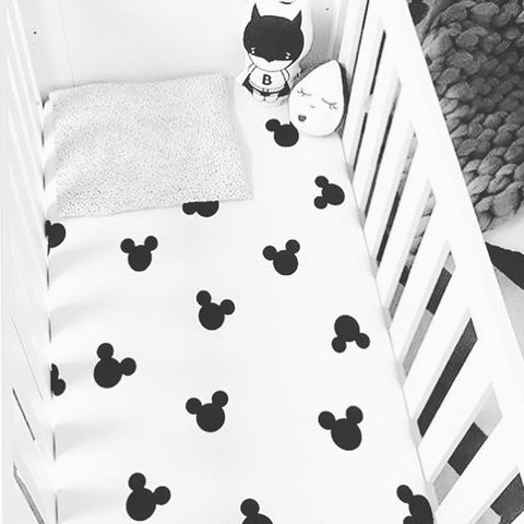 Ofortywinks mr mouse cot sheet