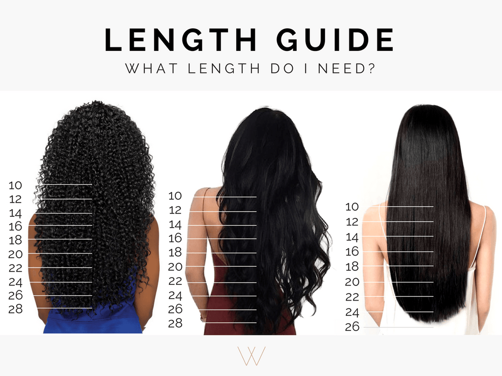 What length hair extensions do I need?
