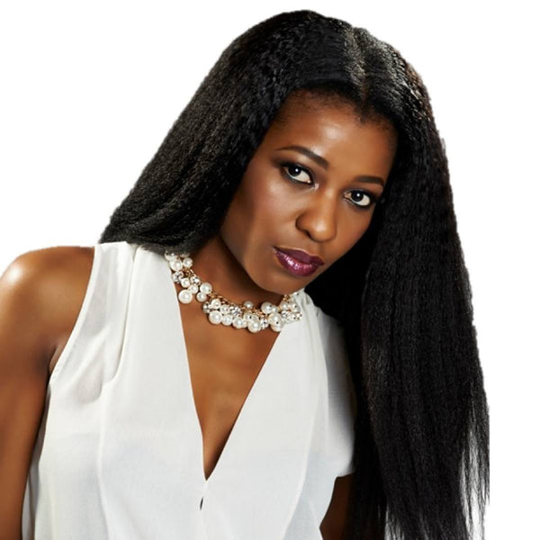 Kinky Straight Clip-Ins Clip In Hair Extensions - Weave Got It Canada