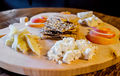 Cheese platter with Saratoga Crackers