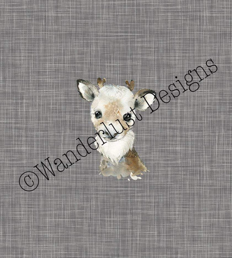 reindeer panel fabric cotton lycra spandex woven french terry bamboo squish minky canvas athletic brushed poly