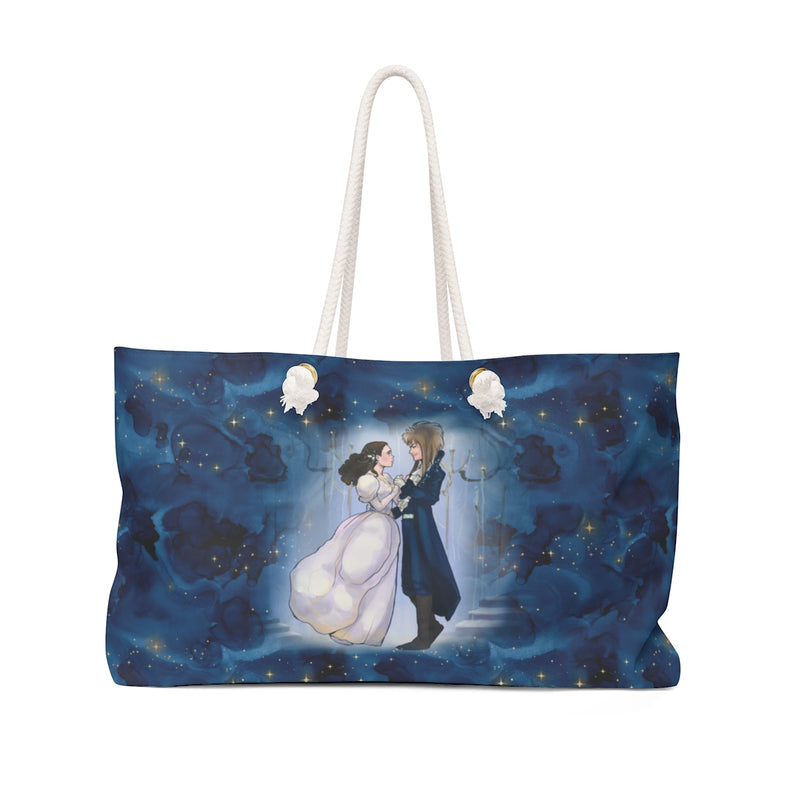 woman man dancing weekend bag