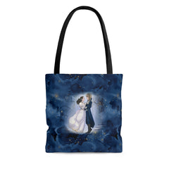 woman man dancing tote bag
