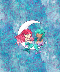 breastfeeding mermaid fabric panel