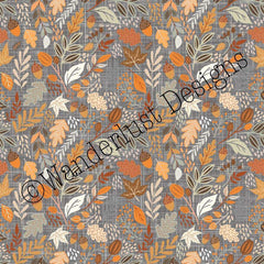 autumn leaves acorns fabric cotton lycra spandex woven french terry bamboo squish minky canvas athletic brushed poly