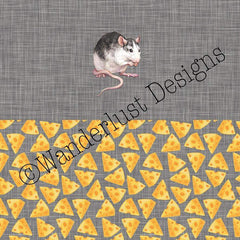rat mouse cheese cloth diaper panel pul cotton lycra spandex woven minky squish fabric