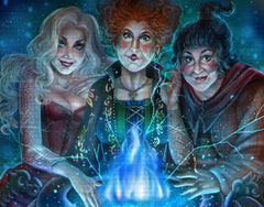 Sanderson Sisters Blanket Panel - Magical Round