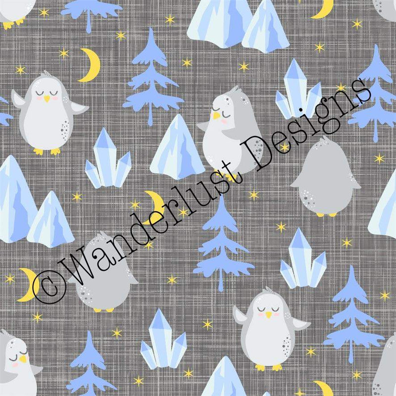 penguin fabric cotton lycra spandex woven french terry bamboo squish minky canvas athletic brushed poly