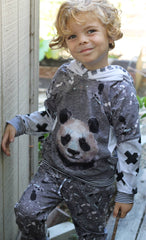 panda custom fabric panel cotton lycra minky bamboo french terry woven