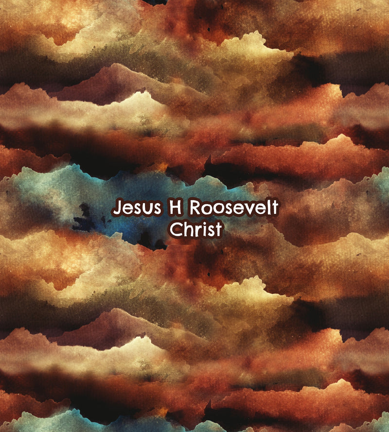 jesus h roosevelt christ custom fabric panel cotton lycra minky bamboo french terry woven