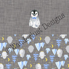 penguin cloth diaper panel fabric pul cotton lycra spandex minky squish woven