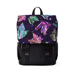 backpack with crystals
