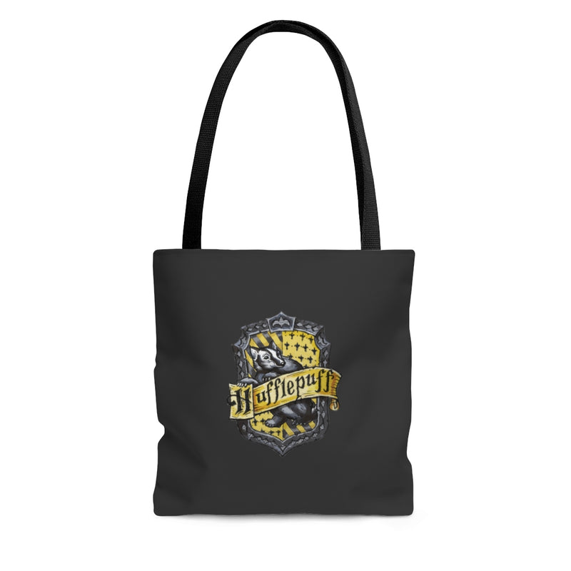 gray yellow badger tote bag