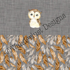Owl Diaper Panel - February 2021 Preorder