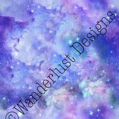 Watercolor Galaxy - Summer Panel Round