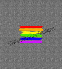 Pride Rainbow Stripe Panel