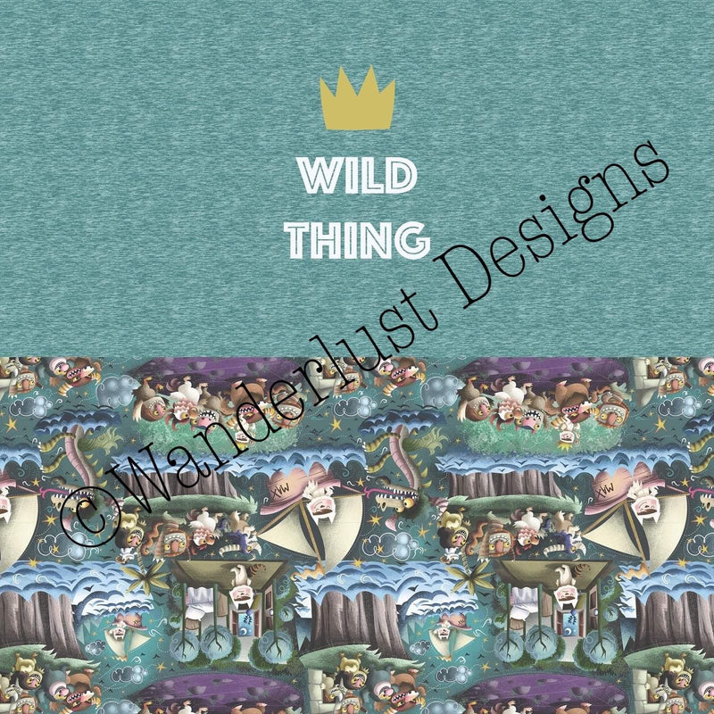 Wild Thing Crown Diaper Panel - October 2020 Preorder