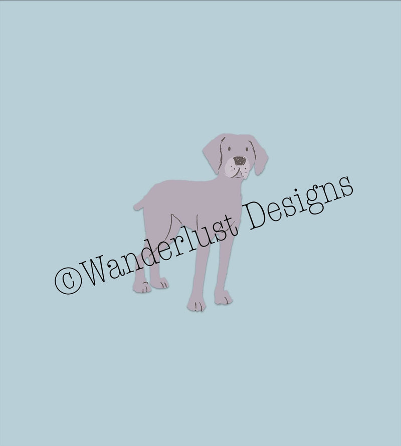Weimaraner Panel - Autumn Preorder