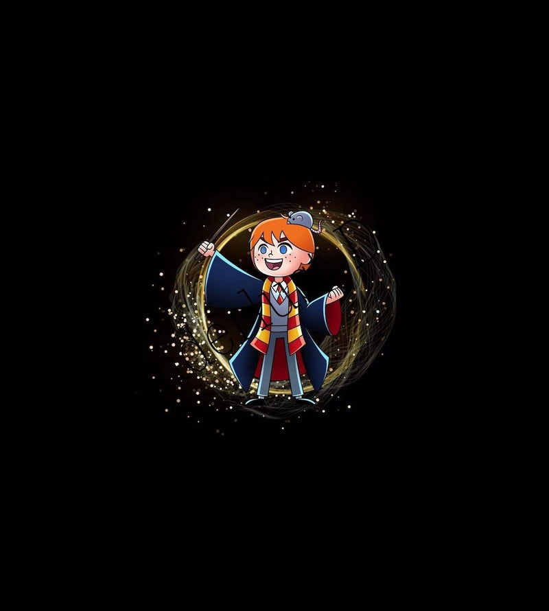 red hair boy wizard fabric panel