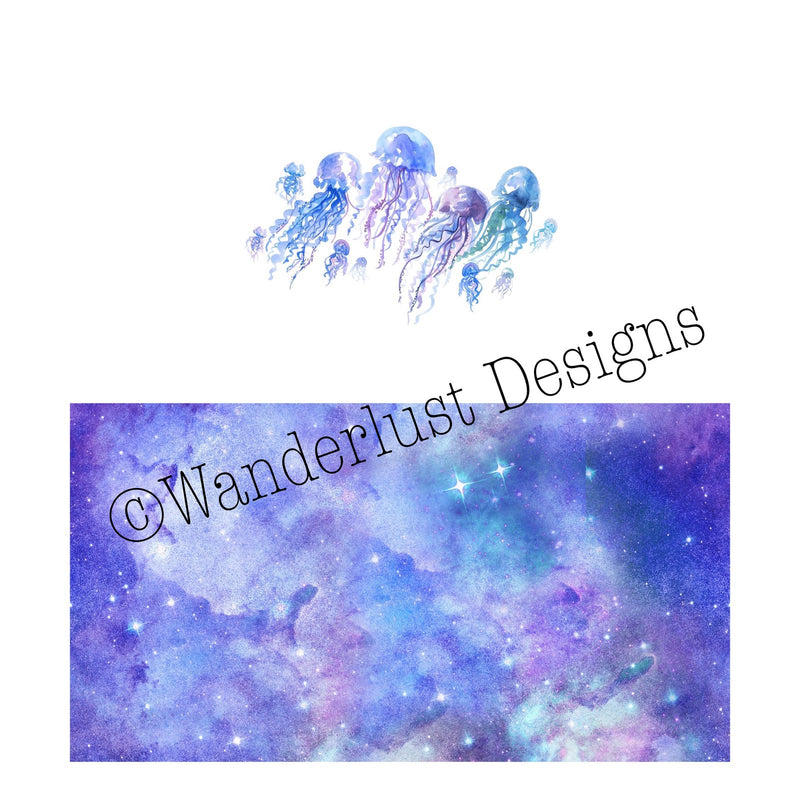 Galaxy Jellyfish Diaper Panel - Summer Panel Round