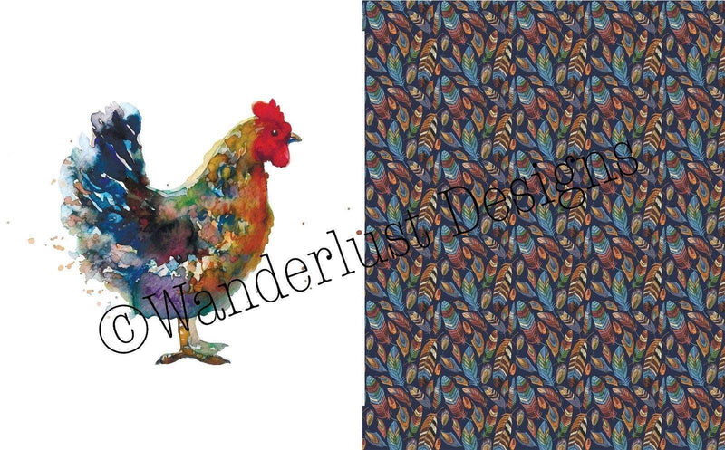 Chicken Blanket Panels - Summer Panel Round